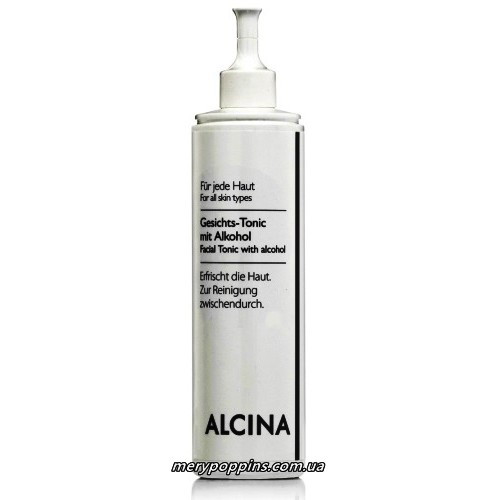 Тоник для комбинированной кожи лица со спиртом ALCINA Facial-Tonic with Alkohol.