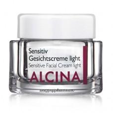 Крем для чувствительной кожи лица Сенситив лайт Alcina Sensitiv Gesichtscreme light - 50 мл.