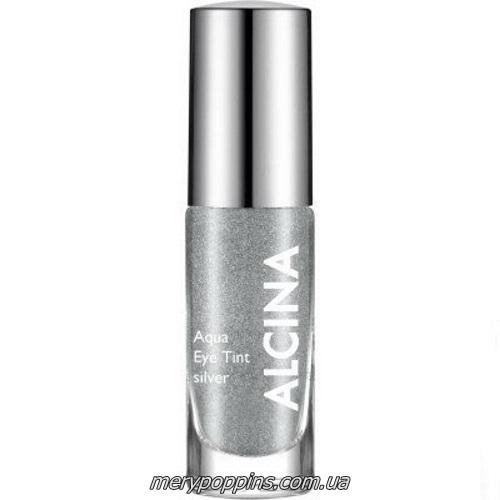 Тени для век жидкие Alcina Aqua EyeTint silver.