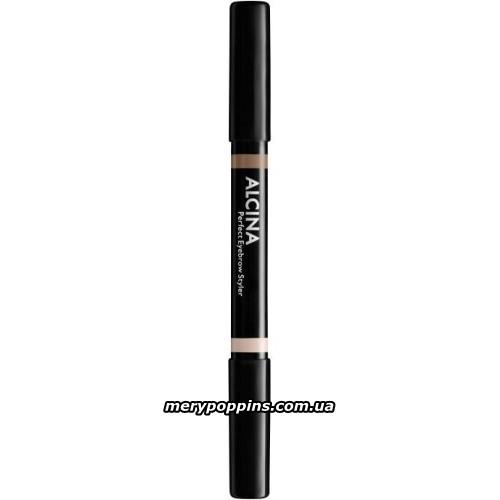 Карандаш для бровей Alcina duo perfect eyebrow styler 020 dark
