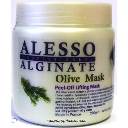 Маска лифтинговая альгинантная ALESSO Olive Mask.