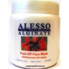 Маска альгинатная глубоко очищающая и отшелушевающая из папайи Alesso Peel-Off Face Mask - 200 гр.