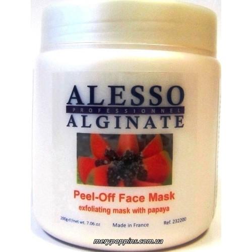 Маска альгинатная глубоко очищающая и отшелушевающая из папайи Alesso Peel-Off Face Mask.