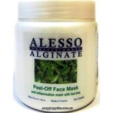 Маска альгинатная противовоспалительная с маслом чайного дерева ALESSO Peel-Off Face Mask - 200 гр.