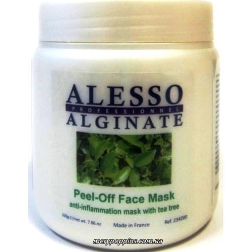 Маска альгинатная противовоспалительная с маслом чайного дерева ALESSO Peel-Off Face Mask.