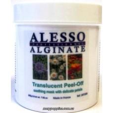 Маска альгинатная полупрозрачная успокаивающая с нежными лепестками ALESSO Translucent Peel-Off - 200 гр.