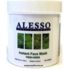 Маска растворимая противовоспалительная свежие травы ALESSO Instant Face Mask - 200 гр.