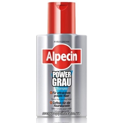 Шампунь для седых волос Alpecin POWER GRAU - 200 мл.