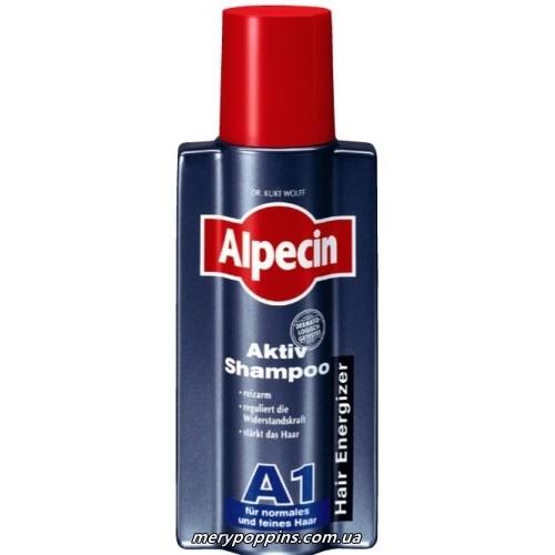 Шампунь активный от выпадения волос для сухой кожи головы с кофеином Alpecin A1 - 250 мл.