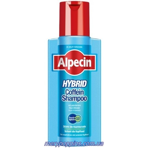 Шампунь для волос з кофеїном Alpecin Hybrid Caffeine Shampoo – 250 мл.