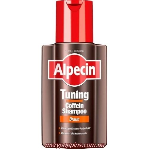 Шампунь для тонирование первичной седины Alpecin Tuning Coffein-Shampoo Braun - 200 мл.
