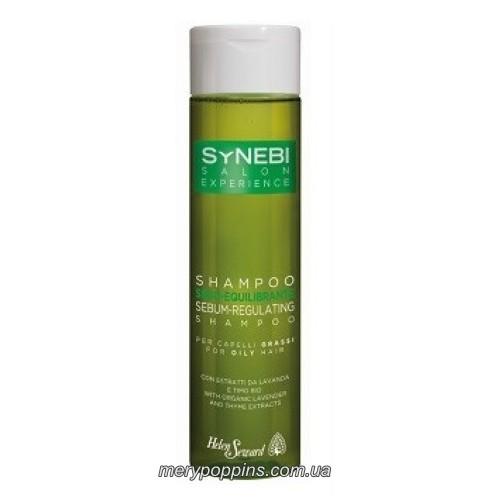 Шампунь себорегулирующий Helen Seward для жирный волос с органическими экстрактами лаванды и тимьяна.